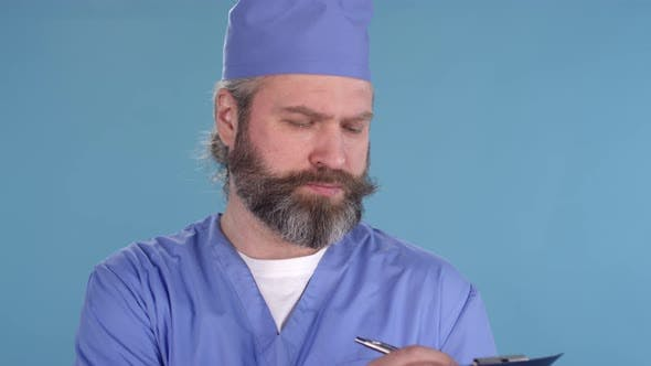 Thumbnail for Bearded Middle-Aged Doctor Posing