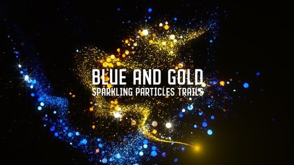 Thumbnail for Gold and Blue Particles Trails