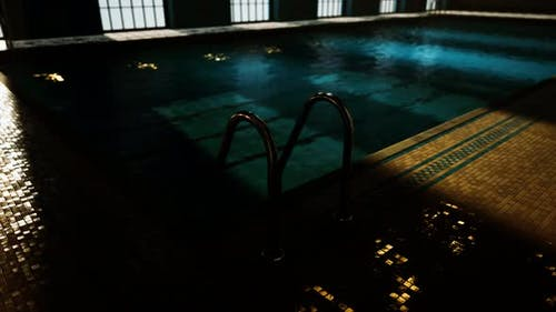 Empty Swiming Pool for Competition