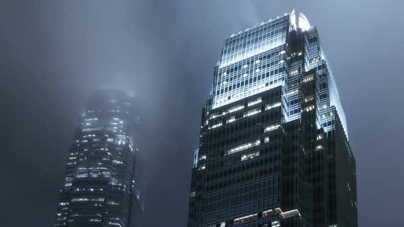 Thumbnail for Clouds Moving With Buildings City Night