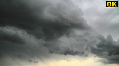 Rainy Storm Clouds Moving With Variable Weather