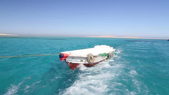 Thumbnail for Little wooden boat in the Red sea, Egypt