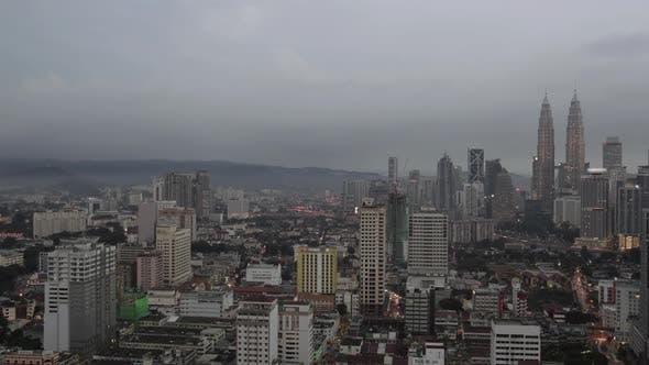 Thumbnail for Timelapse of Night Coming To Kuala Lumpur, Malaysia