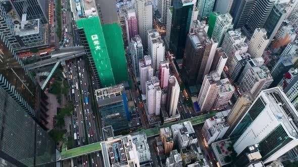Thumbnail for Top view of Hong Kong business district