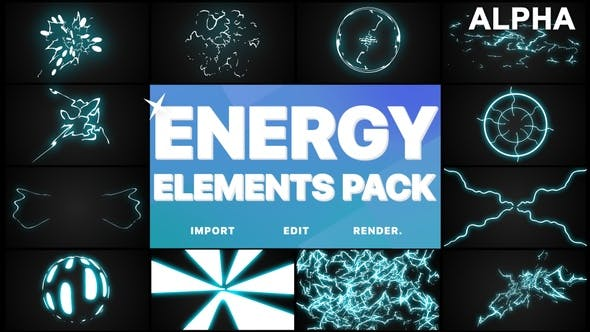 Thumbnail for Energy Elements Pack | Motion Graphics Pack