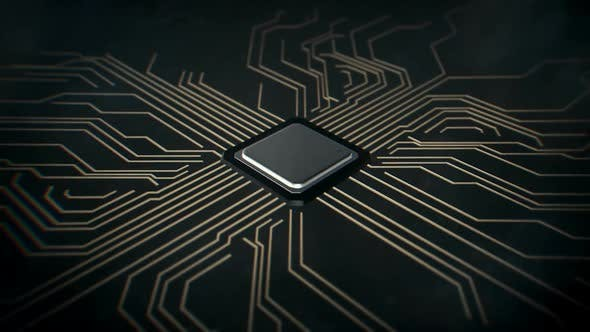 Thumbnail for Computer Chip Rotating