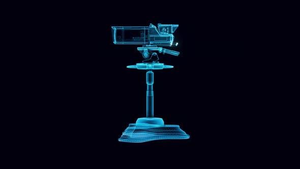 Tv Camera Hologram Rotating 4k