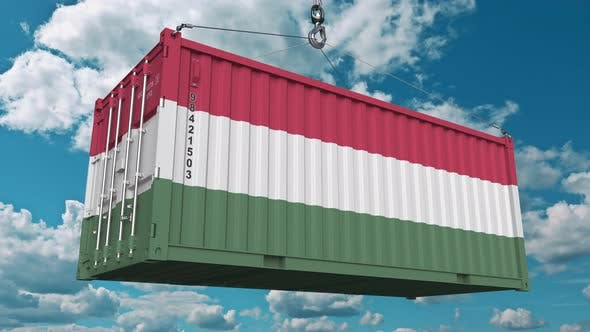 Thumbnail for Loading Container with Flag of Hungary