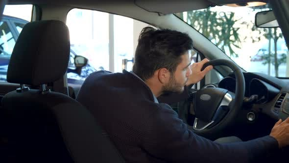 Thumbnail for Man Shows His Thumb Up Inside the Car