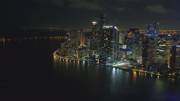 Aerial Video Brickell Biscayne Bay Miami