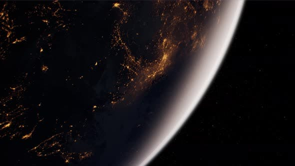 Cover Image for Earth Globe Planet From Space Orbit