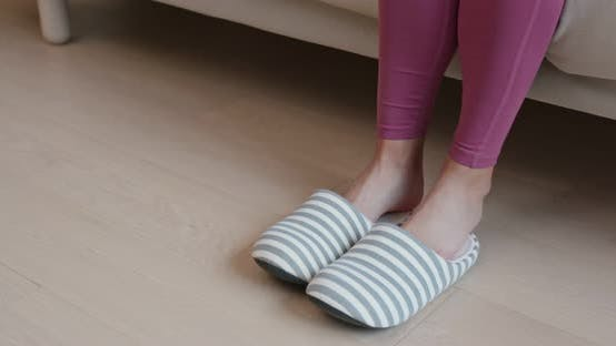 Thumbnail for Woman wear slipper at home