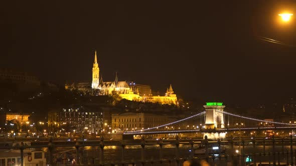 Thumbnail for Fisherman's Bastion and Szechenyi Bridge at Night
