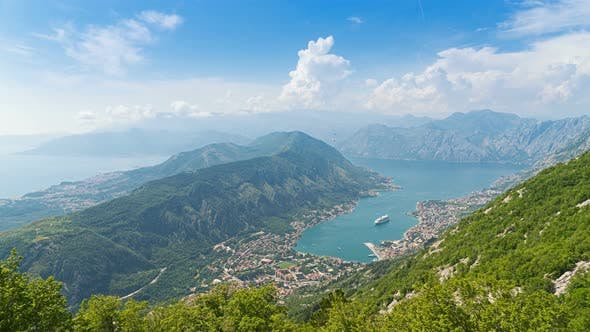Thumbnail for Beautiful Natural Bay, Travel Destination View, Fjord of Kotor, Montenegro