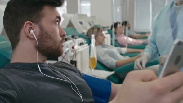 Thumbnail for Modern Blood Donor Using Gadget