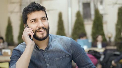 Talking on Smartphone