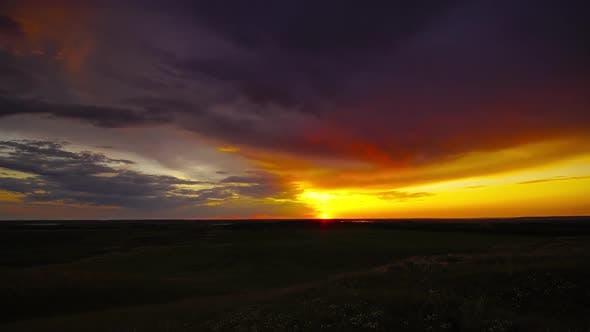 Thumbnail for Beautiful Sunset at Countryside Fields