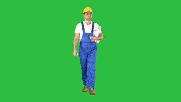 Thumbnail for Inspector Engineer Man Looking Around While Walking on