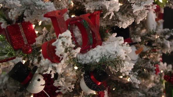 Thumbnail for Christmas decor covering flocked christmas tree.