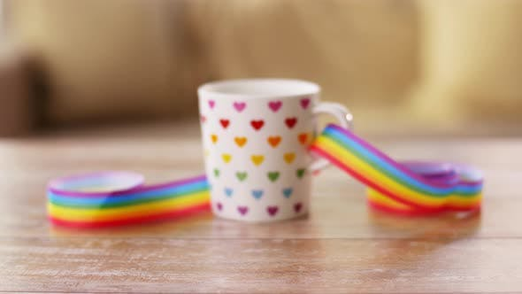 Thumbnail for Cup with Gay or Lgbt Pride Awareness Ribbon 2