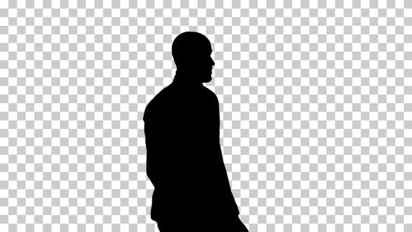 Thumbnail for Silhouette Casual man putting blazer on It is getting cold