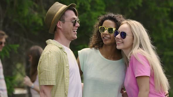 Thumbnail for Multiethnic Friends Having Fun Together, Posing for Selfie, Enjoying Happy Life