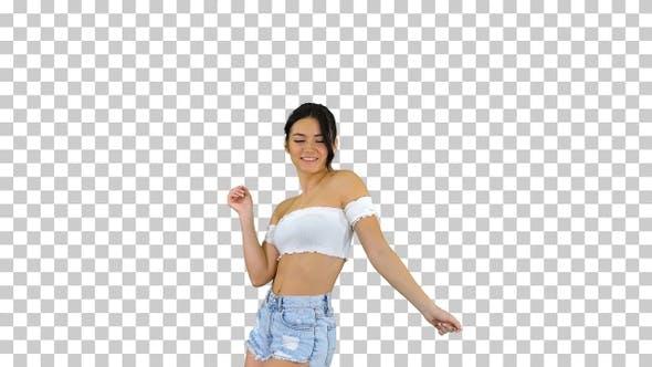 Thumbnail for Beautiful Latin woman dancing, Alpha Channel