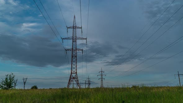 Thumbnail for Electricity Pylons and Clouds