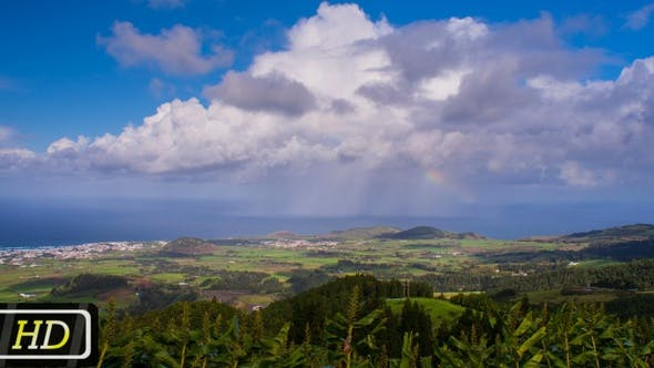 Thumbnail for Fluffy Clouds over Azores San Miguel Island