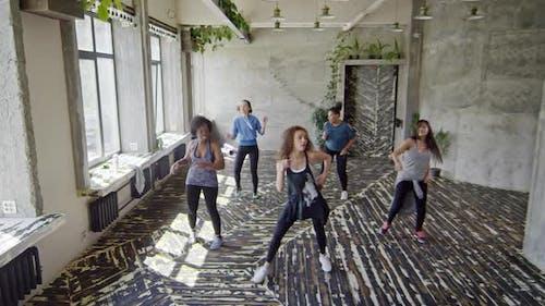 Women Dancing on Zumba Master Class