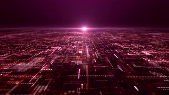 Thumbnail for Futuristic Digital Abstract Matrix Particles Grid 06