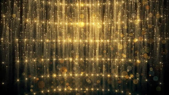 Gold Glitter And Reflection Lights 02 HD