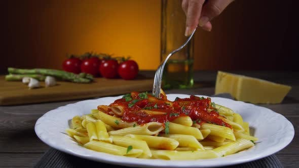 Thumbnail for Penne Pasta On A Fork 56