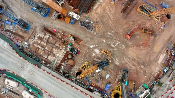 Thumbnail for Top down view of construction site