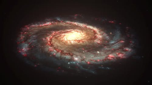 Spiral Galaxy Rotation Seamless Loop