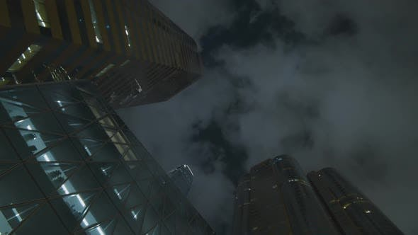 Thumbnail for Business Buildings Night Sky