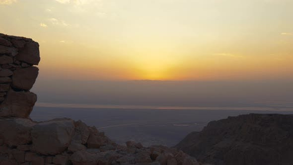 Thumbnail for Sunrise From the Top of Masada Fortress