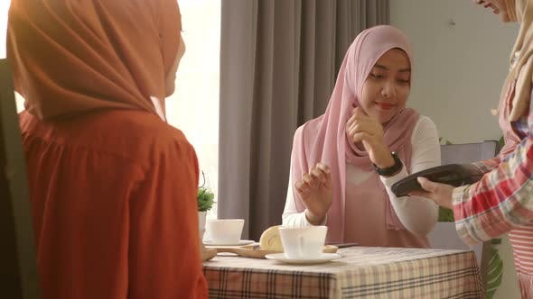 Thumbnail for Asian Muslim Woman Using Smartwatch Payment 05