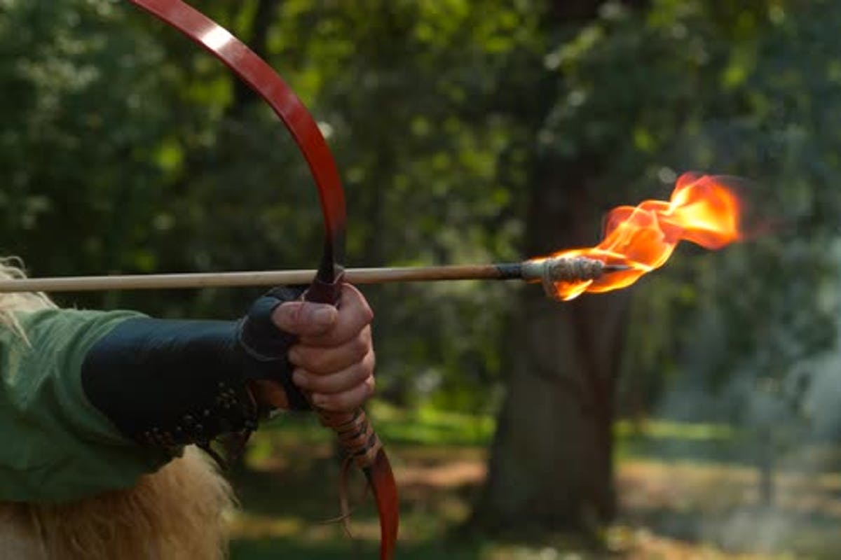 Flaming arrow, ultra slow motion by ATWStock on Envato Elements