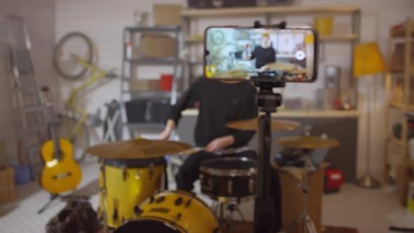 Drummer Shooting Video For Blog