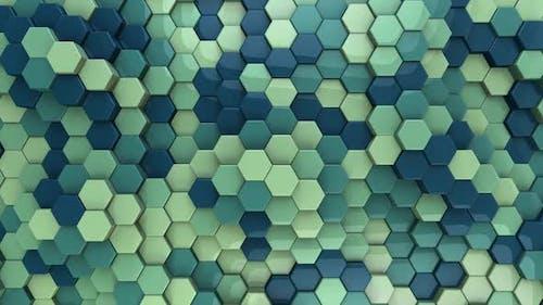 Hexagon Background Aquamarine