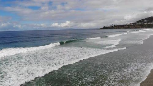 Amazing Beach Aerial Parallax Sky 4 K