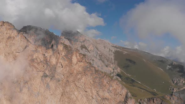 Thumbnail for Aerial Shot of Group of Climbers Working with a Rope