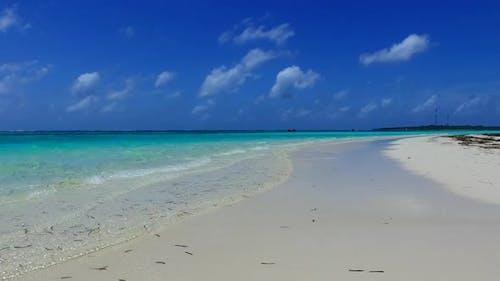 Nahe Natur des Uferstrandes am Meer und Sand Hintergrund in der Nähe von Resort