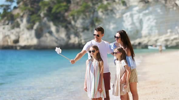 Thumbnail for Photo of Happy Family Having Fun on the Beach. Summer Lifestyle