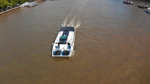 Boat Floating Against