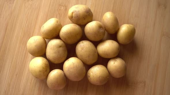 Thumbnail for Potatoes in Wood Background