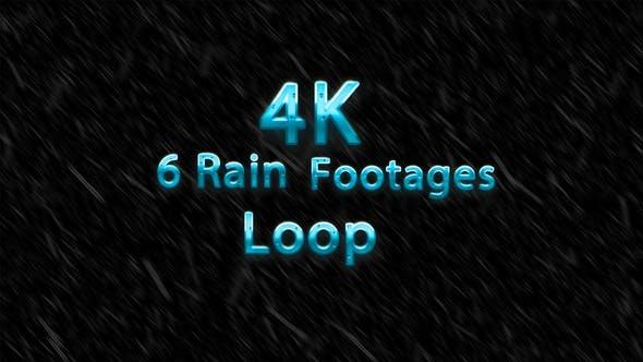 Thumbnail for Rain Pack - 6 loops rain footages