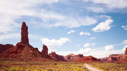 Time-Lapse Desert Clouds Valley Of The Gods