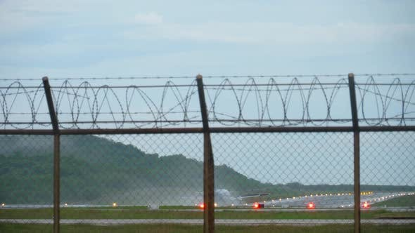 Thumbnail for Airplane Landing Wet Runway
